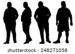 set of fat men isolated on white | Shutterstock .eps vector #248271058