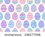 hand drawn easter eggs in a... | Shutterstock .eps vector #248277508