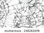 Full Screen Broken Glass  Whit...