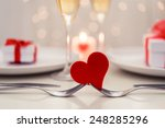 valentine' day dinner | Shutterstock . vector #248285296