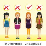 girls with different... | Shutterstock .eps vector #248285386