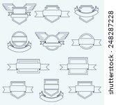 vector set of crests badges... | Shutterstock .eps vector #248287228