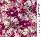 seamless pattern spring bird on ... | Shutterstock . vector #248287858