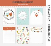 romantic and love cards  notes  ... | Shutterstock .eps vector #248294578