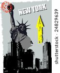 Abstract New York Vector...