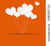 valentines day heart balloons... | Shutterstock .eps vector #248300710