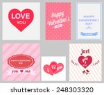 retro set of happy valentines... | Shutterstock .eps vector #248303320