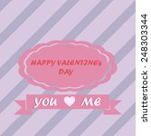 happy valentines day and... | Shutterstock .eps vector #248303344