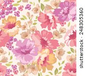 seamless  pattern with flowers... | Shutterstock .eps vector #248305360
