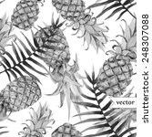 Watercolor  Tropical  Pineappl...
