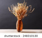 Bouquet Of Dried Flowers In...
