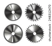 set of of circular saw blades... | Shutterstock .eps vector #248312470