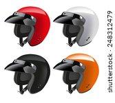 motorbike classic helmets... | Shutterstock .eps vector #248312479