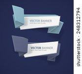 vector infographic origami... | Shutterstock .eps vector #248312794