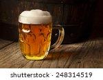 still life with a keg of beer... | Shutterstock . vector #248314519
