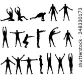 vector silhouettes man who... | Shutterstock .eps vector #248330173