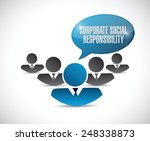 corporate social responsibility ... | Shutterstock .eps vector #248338873
