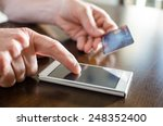 online payment using smartphone ... | Shutterstock . vector #248352400