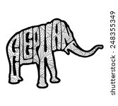 zentangle stylized elephant.... | Shutterstock .eps vector #248355349