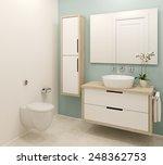 modern bathroom interior. 3d... | Shutterstock . vector #248362753