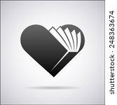 heart vector logo design... | Shutterstock .eps vector #248363674