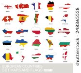 European Countries Set  Maps...