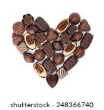 Heart Shape Made From Various...