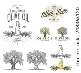olive oil labels and design... | Shutterstock .eps vector #248368120