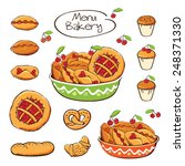 set of elements for the bakery. ... | Shutterstock . vector #248371330