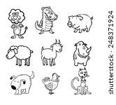 animals  vector illustration. | Shutterstock .eps vector #248371924