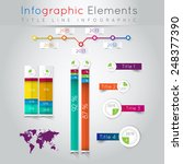 abstract business info graphics.... | Shutterstock .eps vector #248377390
