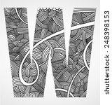 "letter ""w"" from doodle alphabet....   Shutterstock .eps vector #248398153"