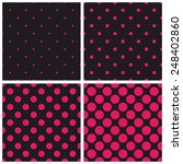 Tile Pattern Set With Pink...