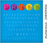 neat thin font character letter ... | Shutterstock .eps vector #248409406