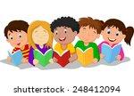 illustration of happy children... | Shutterstock .eps vector #248412094