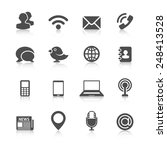 communication icons with... | Shutterstock . vector #248413528