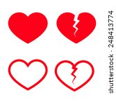 heart shape icons | Shutterstock . vector #248413774