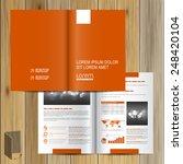 classic orange brochure... | Shutterstock .eps vector #248420104