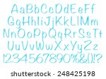 3d blue uppercase and lowercase ... | Shutterstock . vector #248425198
