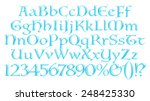 3d blue uppercase and lowercase ... | Shutterstock . vector #248425330
