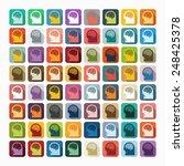 flat design  head | Shutterstock .eps vector #248425378