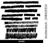 ink strokes set. vector design. | Shutterstock .eps vector #248425513