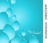 simple shiny flat eggs on...   Shutterstock .eps vector #248427649
