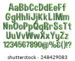 complete alphabet with digit... | Shutterstock . vector #248429083