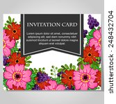 set of invitations with floral... | Shutterstock .eps vector #248432704