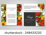 wedding invitation cards with... | Shutterstock .eps vector #248433220