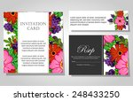 wedding invitation cards with... | Shutterstock .eps vector #248433250
