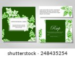 set of invitations with floral... | Shutterstock .eps vector #248435254