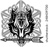 tattoo wolf head  | Shutterstock .eps vector #248439700