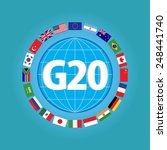 g20 country flags or flags of... | Shutterstock .eps vector #248441740